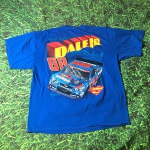 Rare Dale Earnhardt Jr Superman T-Shirt DC Nascar